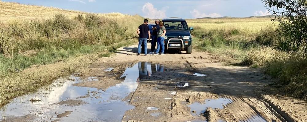 La Diputación reparará los caminos agrícolas de La Moraña afectados por la granizada del 1 de junio