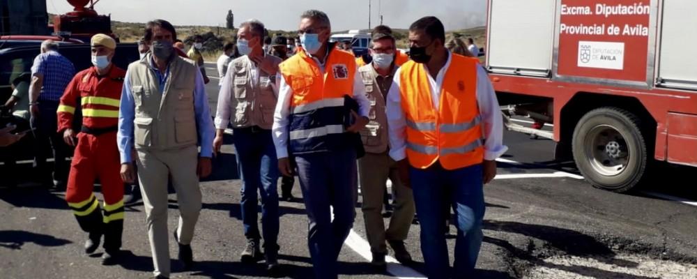"""El presidente subraya """"el trabajo de la Diputación en este mandato"""" para levantar los parques comarcales de bomberos"""