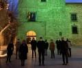 Foto de El Torreón de los Guzmanes se ilumina de verde contra el cáncer