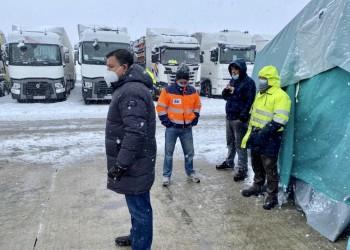 La Diputación asume el coste de los alimentos de los transportistas embolsados en la A-6 por Filomena (2º Fotografía)