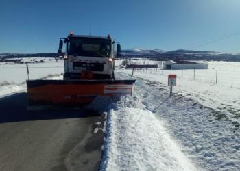 Ensanchar calzadas y eliminar placas de hielo, tareas del operativo de vialidad invernal este miércoles