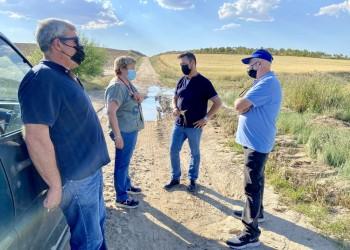 La Diputación reparará los caminos agrícolas de La Moraña afectados por la granizada del 1 de junio (3º Fotografía)