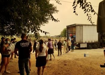 La Diputación distribuye los primeros 30.000 litros de agua embotellada entre los municipios afectados por el fuego (2º Fotografía)