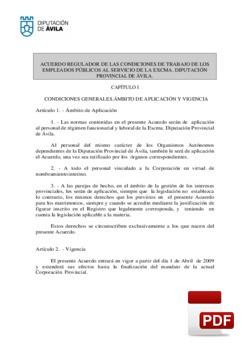 Acuerdo regulador de las condiciones de trabajo de los empleados públicos.