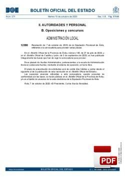 Provisión de doce plazas de auxiliar administrativo, perteneciente a la escala de administración general, subescala auxiliar, grupo/subgrupo c2. Publicación en BOE de 13 de octubre 2020.
