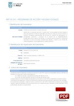 Programas de acción y ayudas sociales