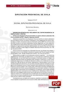 Reglamento del Centro Residencial Infantas Elena y Cristina