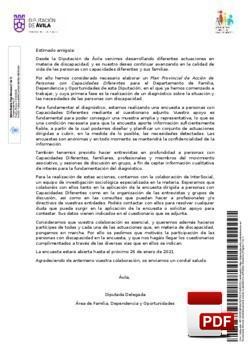 Presentación del Plan Provincial de Acción de Personas con Capacidades Diferentes de la Provincia de Ávila